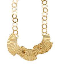 Stephanie Kantis - Metallic Basin 24k Yellow Gold-plated Bib Necklace - Lyst