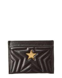 Stella McCartney Black Stella Star Card Holder
