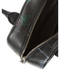 Marc Jacobs - Black Taboo Flower Bauletto Leather Satchel - Lyst