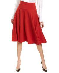 ESCADA Red Rayantin Wool-blend A-line Skirt
