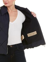 Burberry Blue Quilted Technical Jacket