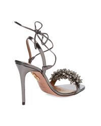 Aquazzura Multicolor Monaco Metallic Leather Sandal