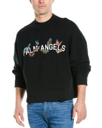 Palm Angels Black Butterfly Collage Sweatshirt for men