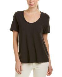 James Perse Gray Jersey Linen-blend T-shirt