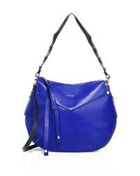 Jimmy Choo Blue Artie Leather Shoulder Bag