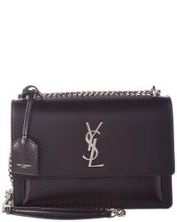 Saint Laurent Multicolor Medium Sunset Monogram Leather Shoulder Bag
