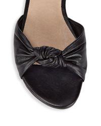 Ava & Aiden White Leather Twist Sandals