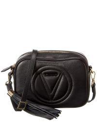 Valentino By Mario Valentino Black Mia Leather Crossbody