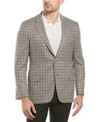 Hickey Freeman Natural Milburn Ii Wool & Cashmere-blend Sportscoat for men