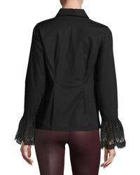 Tracy Reese Black Lace Cuff Shirt