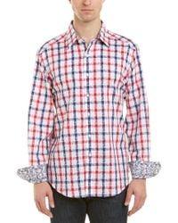Robert Graham Red Woven Shirt for men