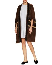 Givenchy Brown Fur Striped Jacket