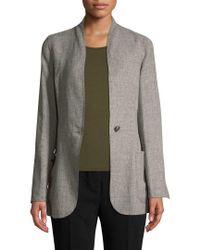 Akris Gray Cannes Solid Coat