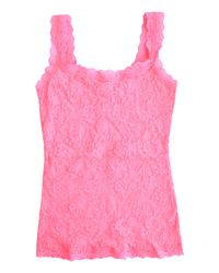 Hanky Panky Pink Signature Lace Unlined Camisole