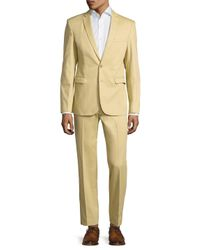 Aspetto - Natural Wool Solid Notch Lapel Suit for Men - Lyst