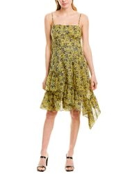 10 Crosby Derek Lam Yellow Cami Dress With Asymmetrical Hem