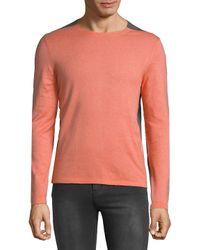 BOSS Multicolor Heathered Colorblock Sweatshirt for men