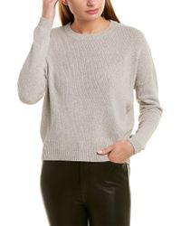 James Perse Gray Dropped-shoulder Sweater