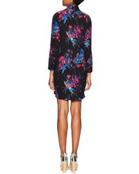 Tocca - Multicolor Silk Crepe Print Standing Dress - Lyst