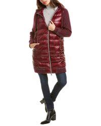 Herno Red Medium Down Alpaca & Wool-blend Jacket
