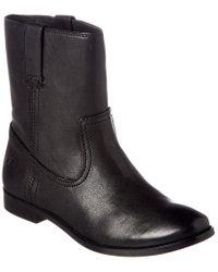 Frye Black Anna Short Leather Boot