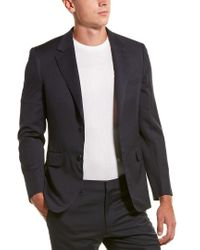 Brioni Black 2pc Wool Suit With Flat Pant for men