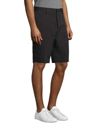 Saks Fifth Avenue Black Fitted Shorts for men