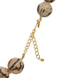 Kenneth Jay Lane Metallic Gold Plated Resin Necklace