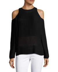 SemSem - Black Maryam Cold Shoulder Top - Lyst