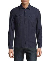 Orlebar Brown Blue Cotton Denim Button-down Shirt for men