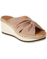 Andre Assous Multicolor Prune Suede Wedge Sandal