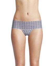Cosabella Gray Sweet Treats Printed Cheeta Cheeky Hotpants