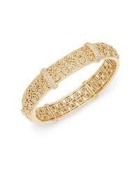 Adriana Orsini Metallic Quatrefoil Filigree Bracelet