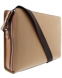 Bruno Magli - Brown Leather Neoclassico Messenger Bag for Men - Lyst