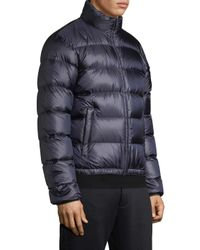 Prada Blue Turtleneck Quilted Jacket for men