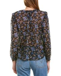 Rebecca Taylor Black Solstice Silk-blend Top