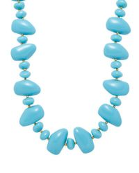 Kenneth Jay Lane - Blue Pebble Necklace - Lyst