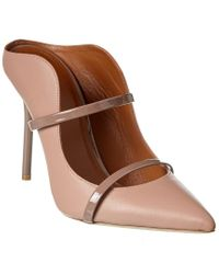 Malone Souliers Pink Maureen 100 Leather Pump