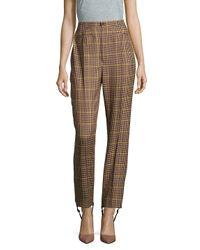 Balenciaga Brown Plaid Four-pocket Wool Pants