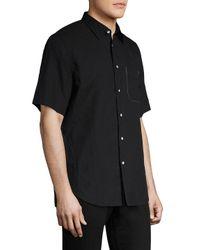 Rag & Bone Black Regular-fit Short Sleeve Shirt for men