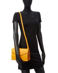 Steven Alan Yellow Easton Envelope Leather Crossbody Bag