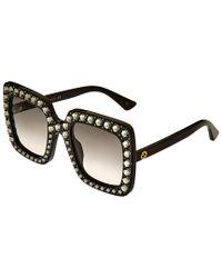Gucci Black GG0148S 53mm Sunglasses