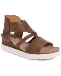 Muk Luks Brown Pitch Soprano Sandal