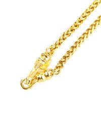 Chanel - Metallic Gold-tone Cc Necklace - Lyst