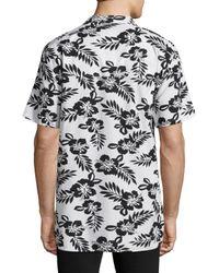 Zanerobe Black Camper Boxy Fit Cotton Sportshirt for men