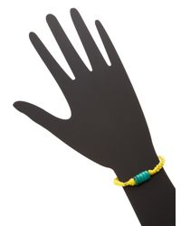 Aurelie Bidermann - Yellow Takayama Friendship Bracelet - Lyst