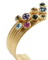 Marco Bicego - Multicolor 18k Mixed Stone Seven Strand Cuff Bracelet - Lyst