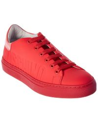 Moschino Pink Leather-trim Sneaker