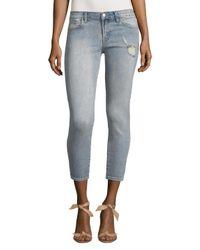 J Brand Blue Low-rise Cropped Skinny Jean