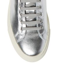 Common Projects Metallic Leather Low-top Sneakers